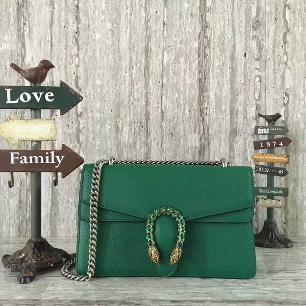 Gucci Dionysus Lichee Pattern Medium Shoulder Bag 400249 Green