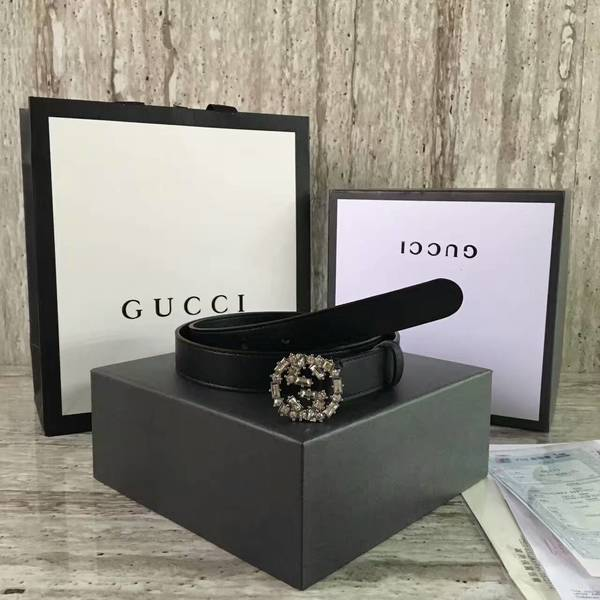 Gucci 2.5cm Original Leather Belt 17418A