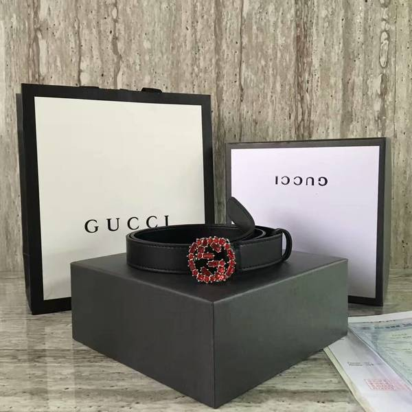 Gucci 2.5cm Original Leather Belt 17418B
