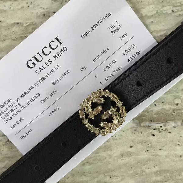 Gucci 2.5cm Original Leather Belt 17418C