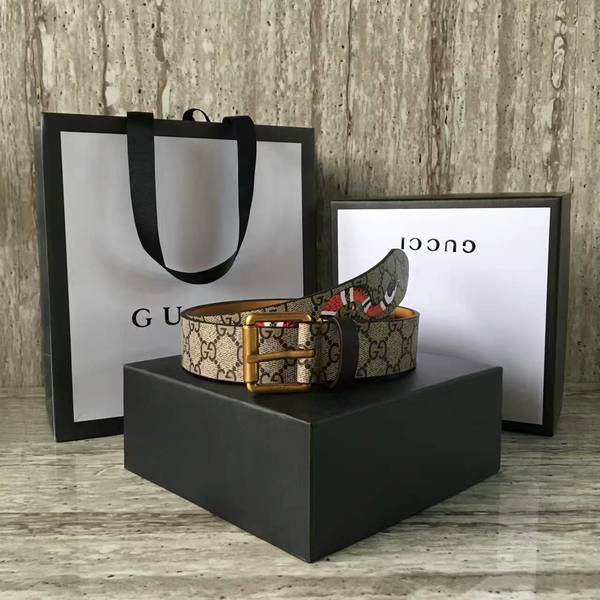 Gucci 4.0cm Original Suede Leather Belt 17418D