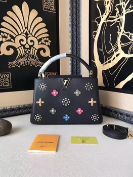 Louis Vuitton Mechanical Flowers CAPUCINES PM M54311 Black