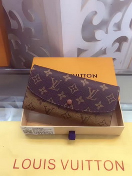 Louis Vuitton Monogram Canvas Emilie Wallet M60136 Brown