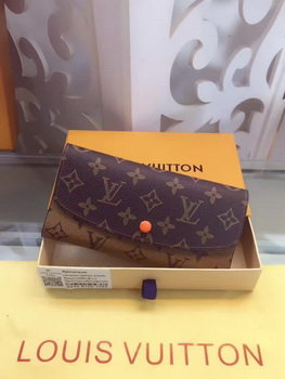 Louis Vuitton Monogram Canvas Emilie Wallet M60136 Orange