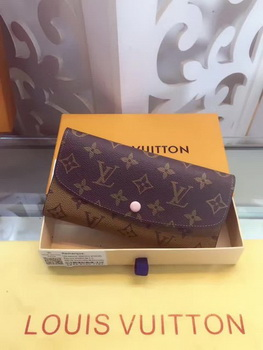 Louis Vuitton Monogram Canvas Emilie Wallet M60136 Pink