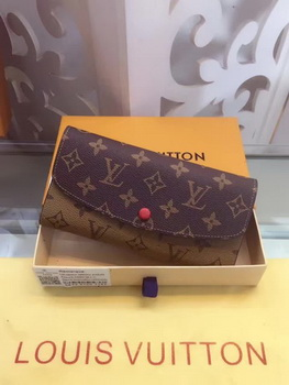 Louis Vuitton Monogram Canvas Emilie Wallet M60136 Red
