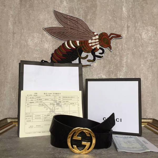 Gucci Original Calf Leather 4.0CM Belt 17419C