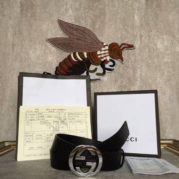 Gucci Original Calf Leather 4.0CM Belt 17419D