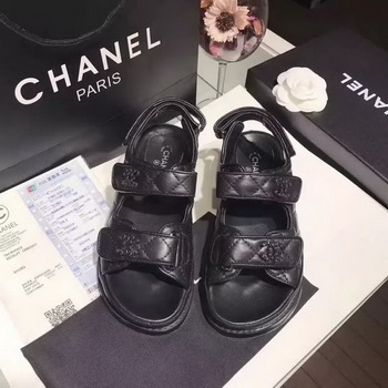 Chanel Sandal Leather CH2090 Black