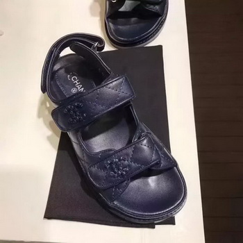 Chanel Sandal Leather CH2090 Royal