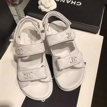 Chanel Sandal Leather CH2090 White