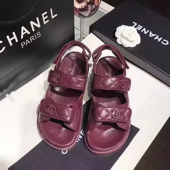 Chanel Sandal Leather CH2090 Wine