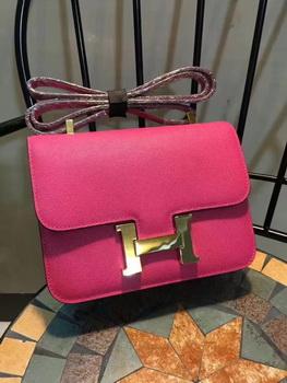 Hermes Constance Bag Calfskin Leather H9978 Rose