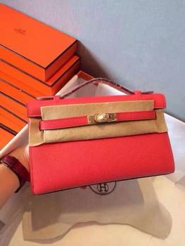 Hermes Kelly 22cm Tote Bag Original Leather KL22 Red