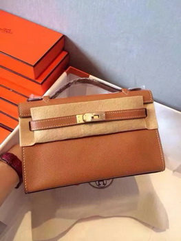 Hermes Kelly 22cm Tote Bag Original Leather KL22 Wheat
