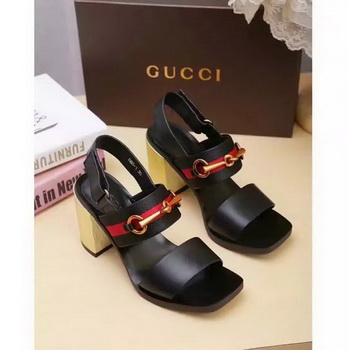 Gucci 80mm Sandal Leather GG1133 Black