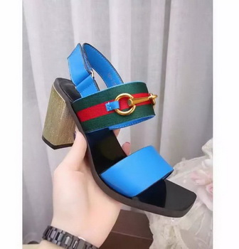 Gucci 80mm Sandal Leather GG1133 Blue