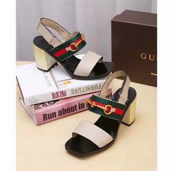 Gucci 80mm Sandal Leather GG1133 OffWhite