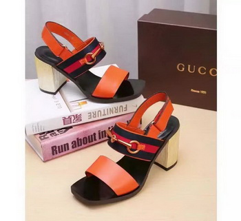 Gucci 80mm Sandal Leather GG1133 Orange