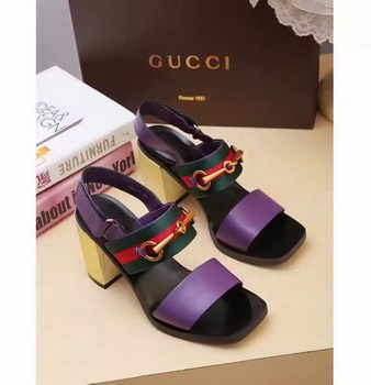 Gucci 80mm Sandal Leather GG1133 Purple