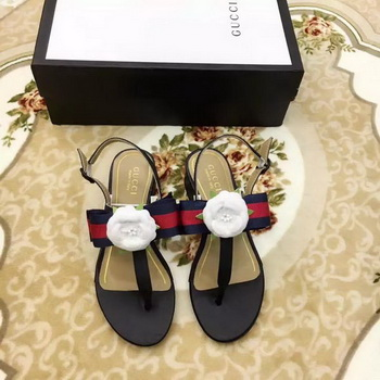 Gucci Sandal Leather GG1131 Black