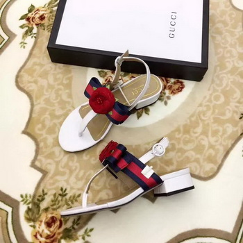 Gucci Sandal Leather GG1131 White