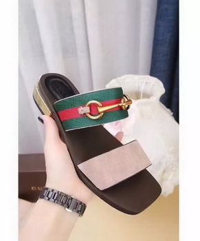 Gucci Sandal Leather GG1132 Apricot
