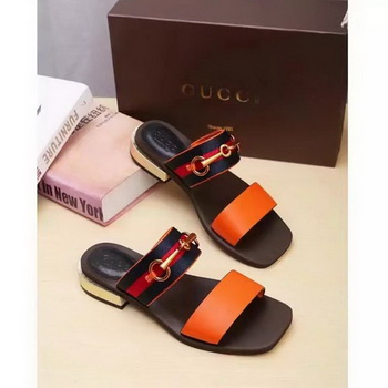 Gucci Sandal Leather GG1132 Orange
