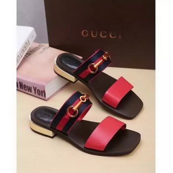 Gucci Sandal Leather GG1132 Red