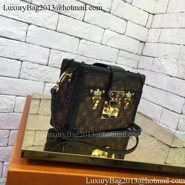 Louis Vuitton Monogram Canvas PETITE MALLE M44199 Black