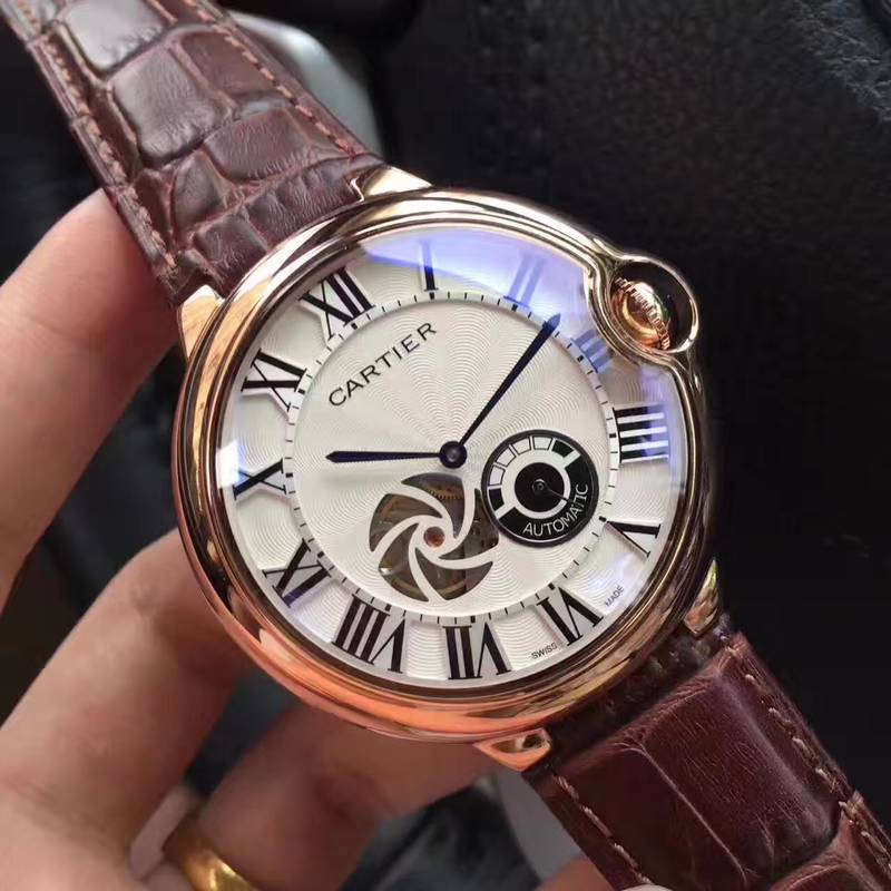 CARTIER Watch 17524 Brown