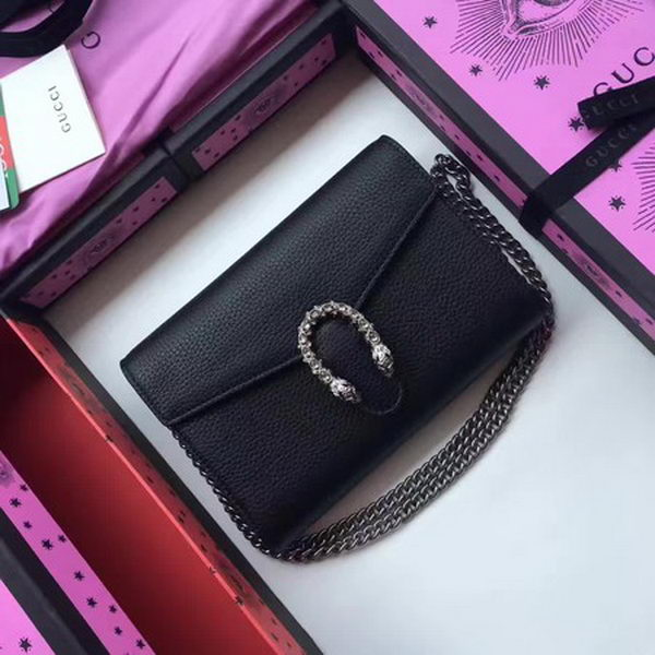 Gucci Dionysus Leather mini Chain Bag 401231 Black