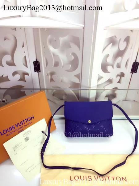 Louis Vuitton Monogram Empreinte POCHETTE FELICIE M50258 Blue