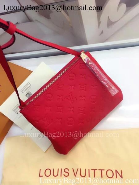 Louis Vuitton Monogram Empreinte POCHETTE FELICIE M50258 Dark Red