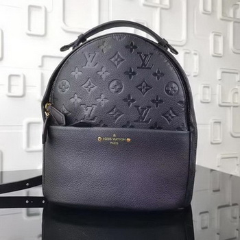Louis Vuitton Monogram Empreinte SORBONNE BACKPACK M44016 Black