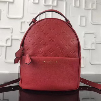 Louis Vuitton Monogram Empreinte SORBONNE BACKPACK M44016 Red