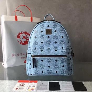 MCM Medium Top Studs Backpack MCM0039 Blue