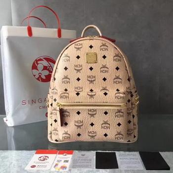 MCM Medium Top Studs Backpack MCM0039 OffWhite