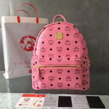 MCM Medium Top Studs Backpack MCM0039 Pink