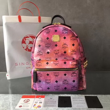 MCM Medium Top Studs Backpack MCM0039 Purple