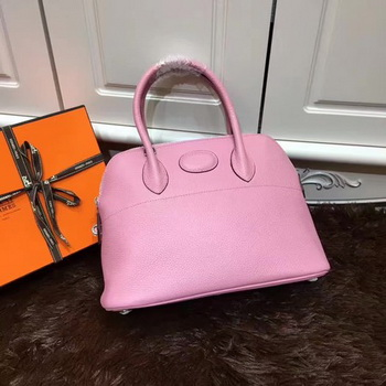 Hermes Bolide 31CM Calfskin Leather Tote Bag B3302 Pink