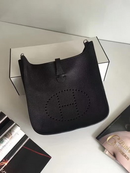 Hermes Evelyne 30cm Messenger Bag E3301 Dark Brown