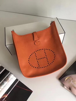 Hermes Evelyne 30cm Messenger Bag E3301 Orange