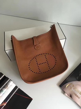 Hermes Evelyne 30cm Messenger Bag E3301 Wheat