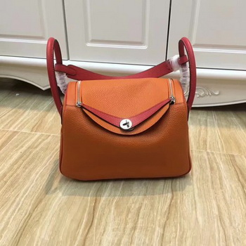Hermes Lindy 30CM Original Leather Shoulder Bag LD30 Orange&Red