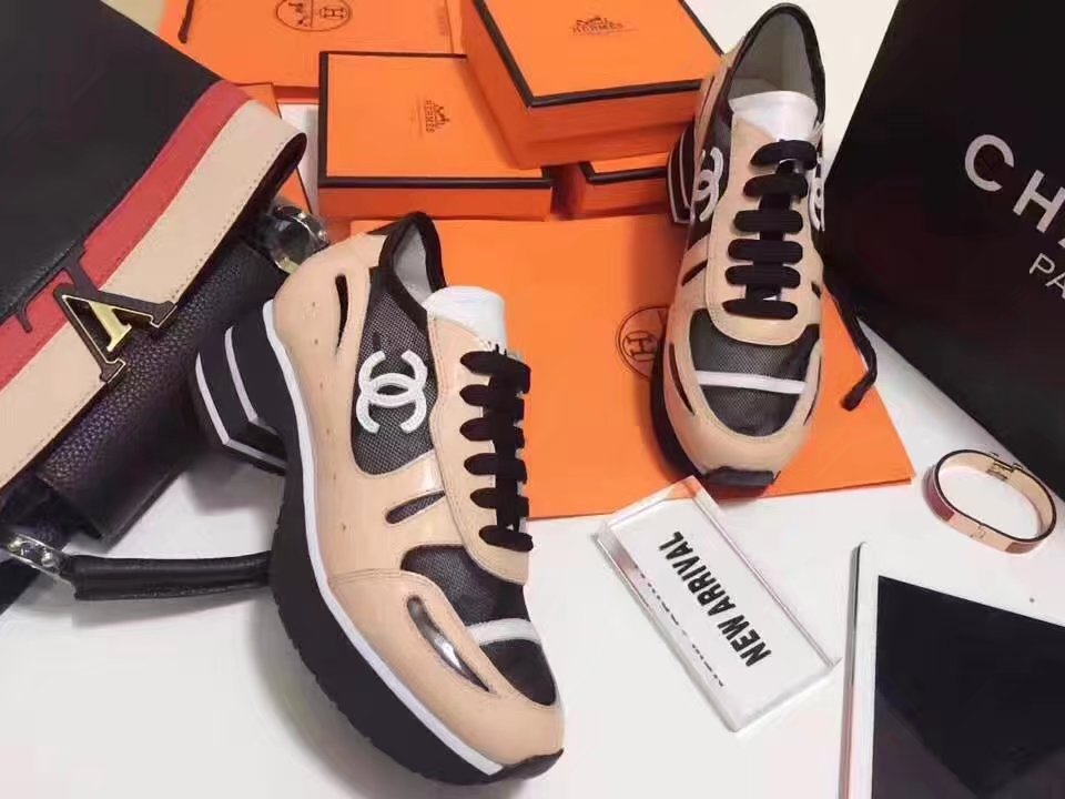 Chanel Casual Shoes Leather CH2148 Apricot