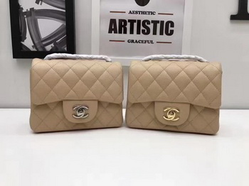 Chanel Classic MINI Flap Bag Original Cannage Pattern A1115 Apricot
