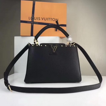 Louis Vuitton Original Leather CAPUCINES BB M54419 Black