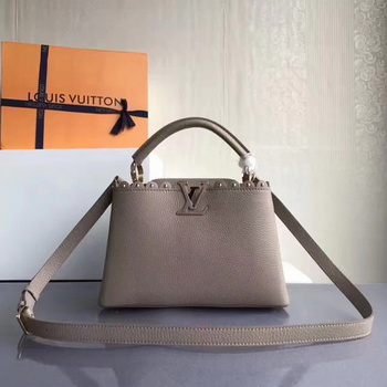 Louis Vuitton Original Leather CAPUCINES BB M54419 Grey