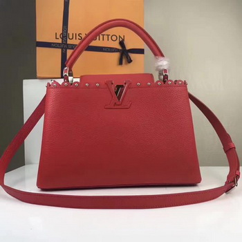 Louis Vuitton Original Leather CAPUCINES BB M54419 Red